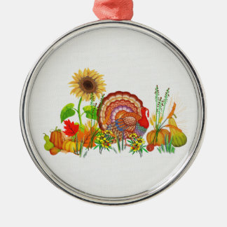 Turkey Day Metal Ornament