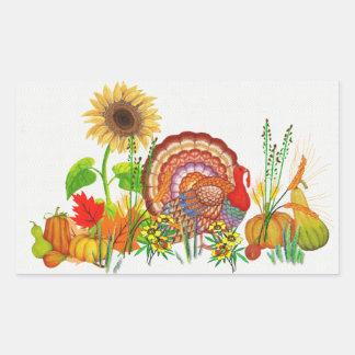 Turkey Day Rectangular Sticker