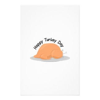Turkey Day Customized Stationery