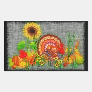 Turkey Day Rectangular Stickers