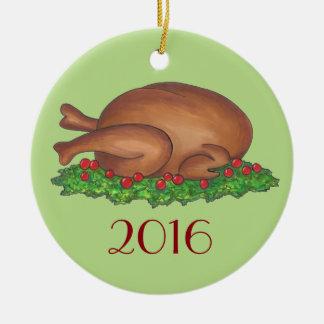 Turkey Day Thanksgiving Christmas Holiday Ornament