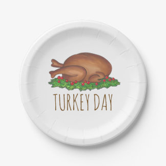 Turkey Day Thanksgiving Dinner Holiday Plates
