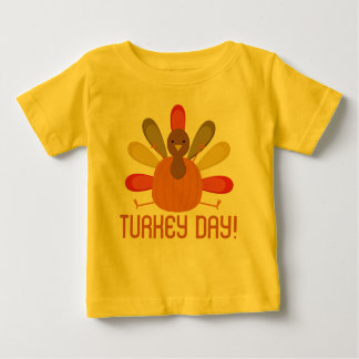 Turkey Day Thanksgiving Holiday Baby Tee Shirt