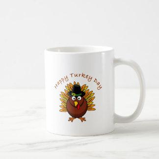 Turkey Day Thanksgiving Holiday Turkey Logo Coffee Mug