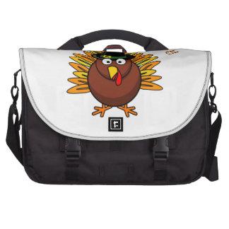Turkey Day Thanksgiving Holiday Turkey Logo Laptop Bags