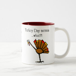 Turkey Day Two-Tone Coffee Mug