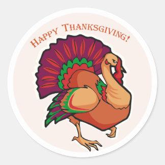 Turkey Decoration Classic Round Sticker