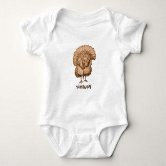 Turkey Design on Infant Clothing Baby Bodysuit