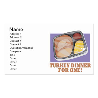Turkey Dinner For One Double-Sided Standard Business Cards (Pack Of 100)