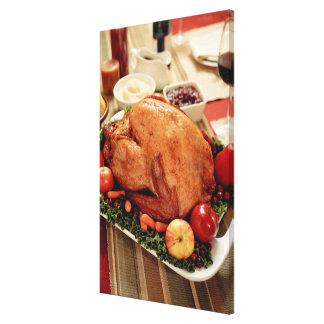 Turkey Dinner Meal Canvas Print