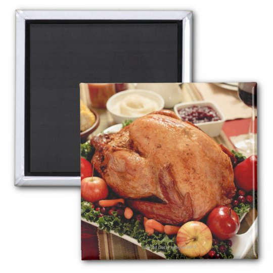 Turkey Dinner Meal Magnet