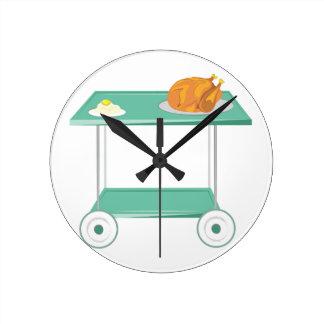 Turkey Dinner Round Clock