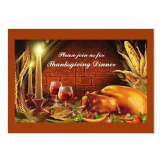 Turkey Dinner Thanksgiving Invitations