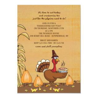 Turkey Dinner Time Thanksgiving Invitation at Zazzle