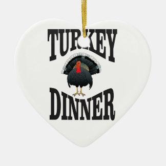 turkey dinner winner ceramic ornament