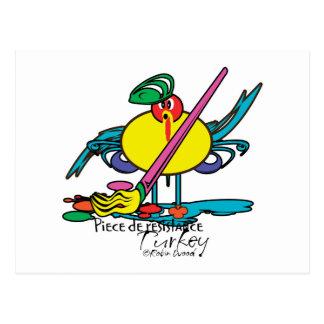 Turkey Divas - funny cartoon thanksgiving cards