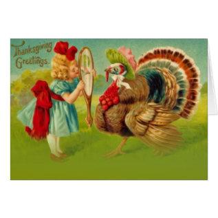 Turkey dressed up card at Zazzle