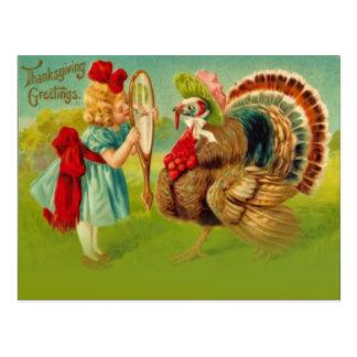 Turkey dressed up postcard