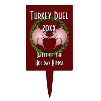 Turkey Duel Holiday Cook Off Cake Topper
