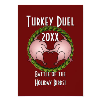 Turkey Duel Holiday Cook Off Card