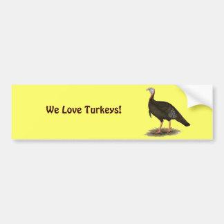 Turkey:  Eastern Wild Tom Bumper Sticker