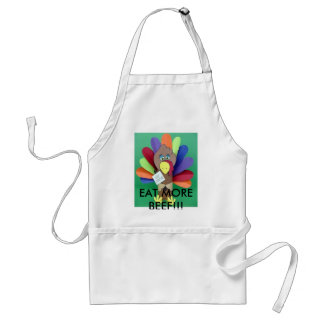 Turkey, EAT MORE BEEF!!! Adult Apron
