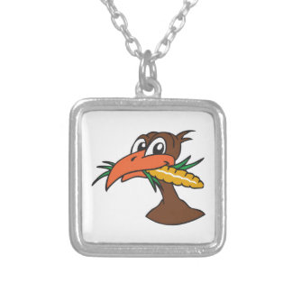 TURKEY EATING CORN PERSONALIZED NECKLACE