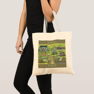 TURKEY FARM, Gobble Gobble BUDGET TOTE BAG