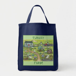 TURKEY FARM, GOBBLERS THANKSGIVING GROCERY TOTE