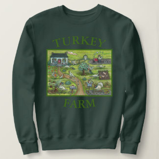 TURKEY FARM ILLUSTRATION, THANKSGIVING SWEATSHIRT
