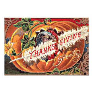 Turkey Feather Pumpkin Flowers Photo Print