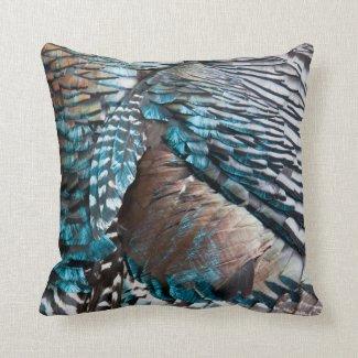 Turkey feathers throw pillows