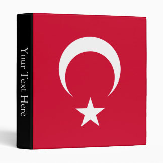 Turkey Flag 3 Ring Binder