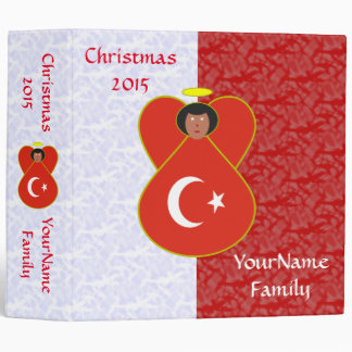 Turkey Flag Angel Red White 3 Ring Binder