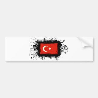 Turkey Flag Car Bumper Sticker