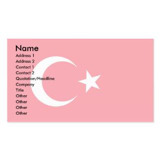 Turkey Flag Business Cards