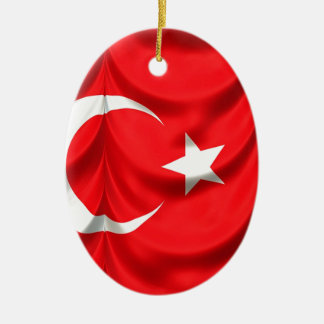 Turkey Flag Ceramic Ornament
