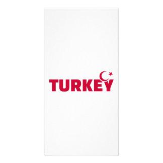 Turkey flag crescent star custom photo card
