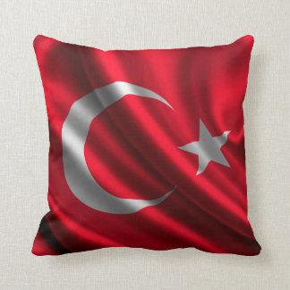 Turkey Flag Fabric Throw Pillow