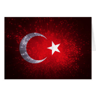 Turkey Flag Firework Card