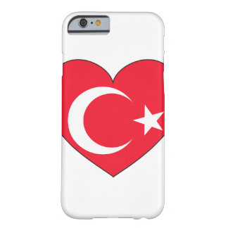 Turkey Flag Heart Barely There iPhone 6 Case