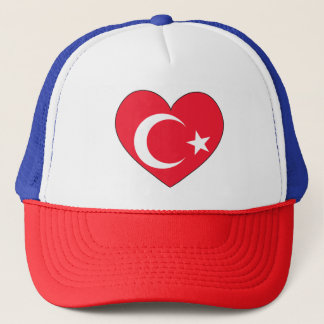 Turkey Flag Heart Trucker Hat