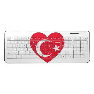 Turkey Flag Heart Wireless Keyboard
