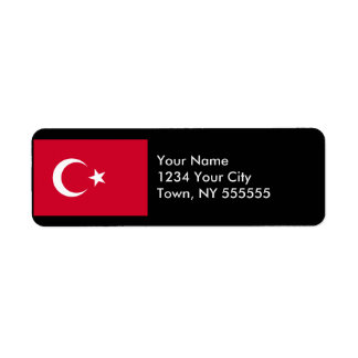 Turkey Flag Label
