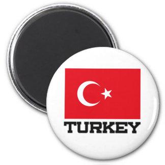 Turkey Flag 2 Inch Round Magnet