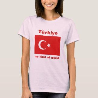 Turkey Flag + Map + Text T-Shirt