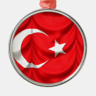 Turkey Flag Metal Ornament