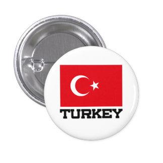 Turkey Flag Pinback Button