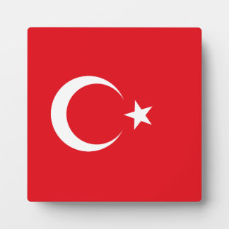 Turkey Flag Plaque