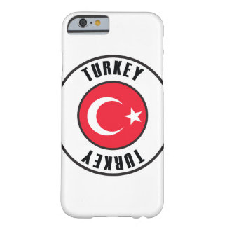 Turkey Flag Simple Dark Barely There iPhone 6 Case